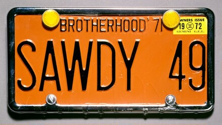 Souvenir License Plate for Sawdy