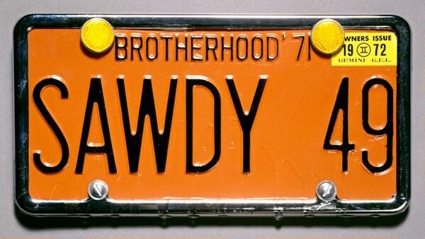 Souvenir License Plate for Sawdy
