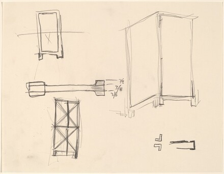 Sketch for folding screen The Foreign Plowman