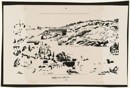Study for Jerusalem, Temple Mount