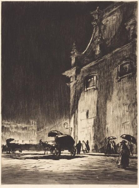 Rainy Night in Rome