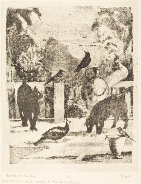 Shoptalk on Parnassus (Le chat de M. Manet rencontre le chien de M. Seurat)