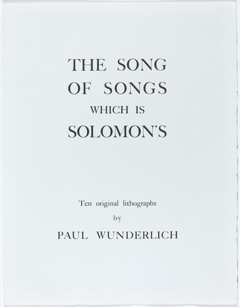 The Song of Songs which is Solomon's