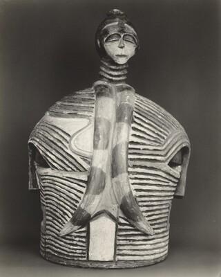 Polychrome Double Mask, BaLuba, Belgian Congo