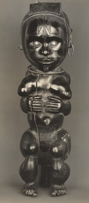 Figure of a Woman with Hands across Abdomen, Pahouin, Okak