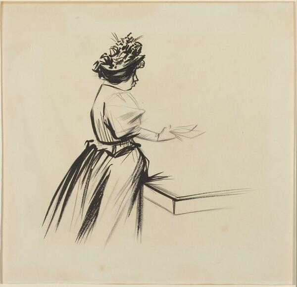 Woman at a Counter