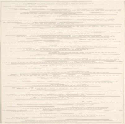 Alternate Straight, Not-Straight and Broken Lines, of Random Length Not Drawn to the Sides of the Page
