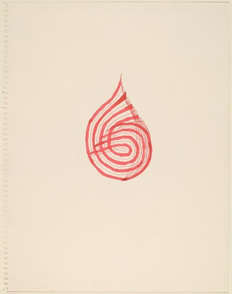 Red Spiral Drawing (2)
