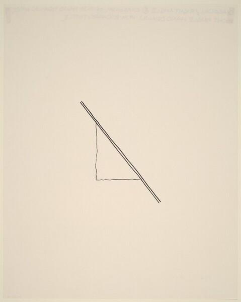 Diagonal/Right Angle 4 Diagonal of Two Hand Drawn Lines; Right Angle Hand Drawn