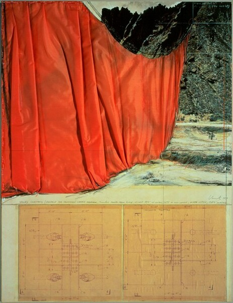 Valley Curtain, Project for Colorado, Grand Hogback