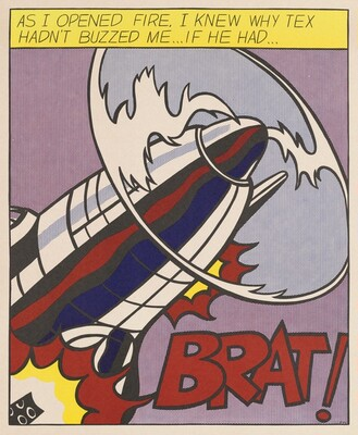 Roy Lichtenstein, As I Opened Fire [left panel], 1966