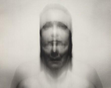 Self-Portrait: Vertical motion up, medium