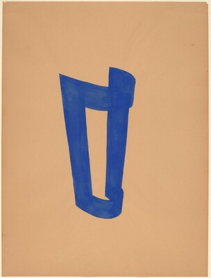 Study for Cloth Piece in Blue