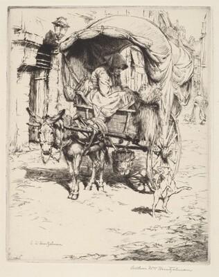 A Donkey Cart in Montmartre