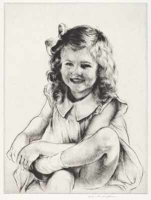Study of a Laughing Girl (large plate)