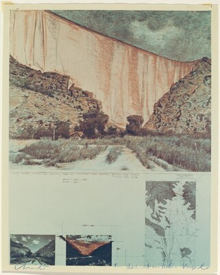 Valley Curtain, Grand Hogback, Rifle, Colorado, 1970-1972