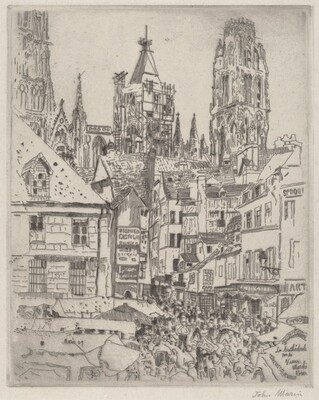 The Cathedral Near the Old Market, Rouen