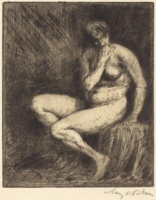 Nude Seated: Interior