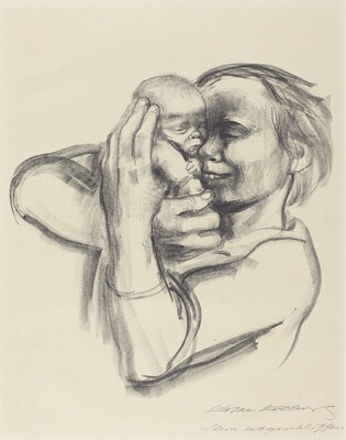 Mother Pressing Infant to Her Face III (Mutter, Saugling an ihr Gesicht Druckend III)