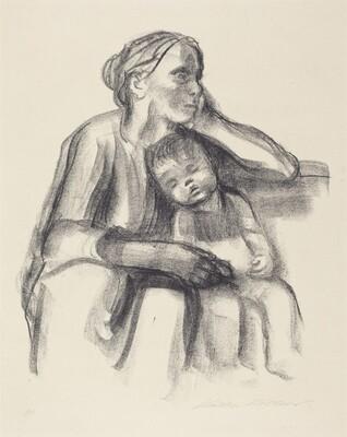 Working-Class Woman with Sleeping Child (Arbeiter Frau mit Schlafendem Jungen)
