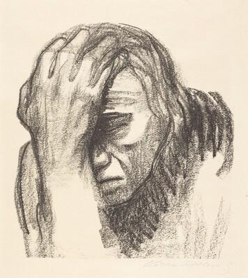 Woman Meditating I (Nachdenkende Frau I)