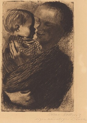 Mutter mit Kindauf auf dem Arm (Mother with Child on Her Arm)