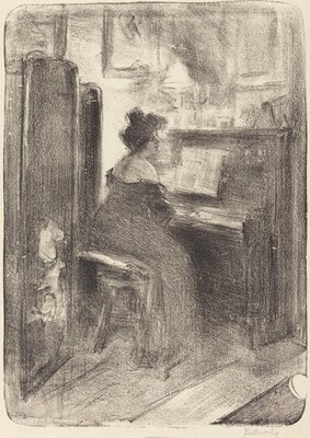 The Artist's Mother at the Piano