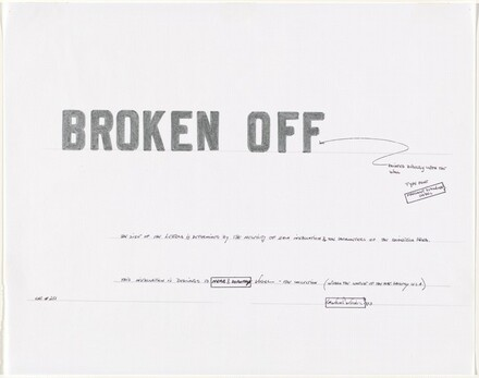 Study for BROKEN OFF