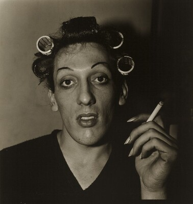 A Young Man in Curlers at Home on West 20th Street, N.Y.C.