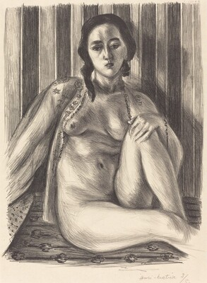 Seated Nude with Tulle Blouse (Nu assis à la chemise de tulle)