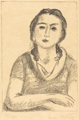 Bust of a Young Girl, Arms Crossed (Buste de jeune fille, les bras croisés)