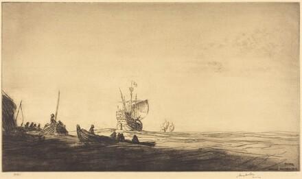 Palos - Departure of Columbus, 1492