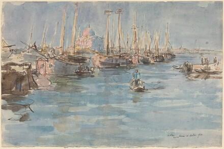 Ships on the Giudecca, Venice