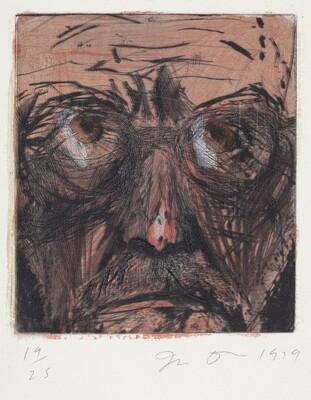 Self-Portrait Hand Painted in Paris