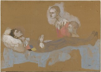 Pablo Picasso, The Death of Harlequin [recto], 1905