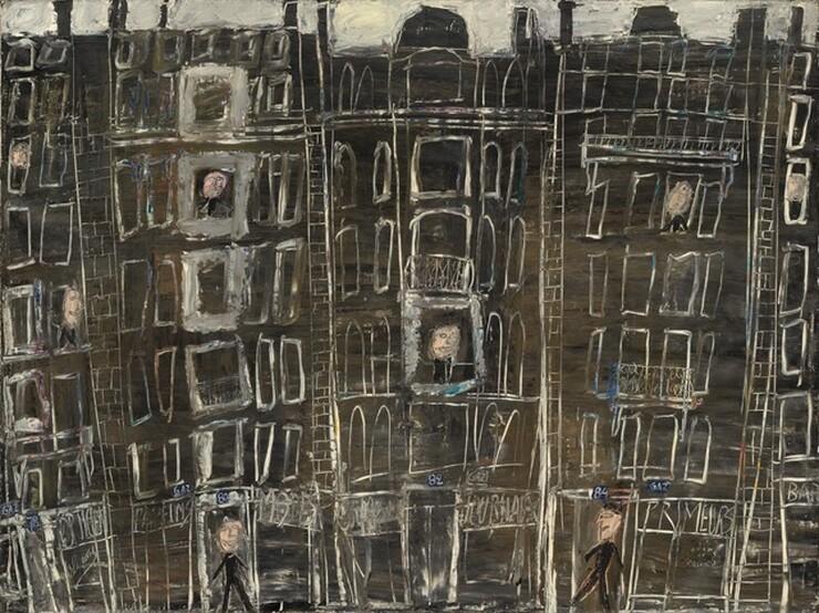 Jean Dubuffet, Façades d'immeubles (Building Façades), 1946