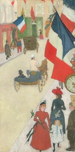 Paris, Rue de Parme on Bastille Day