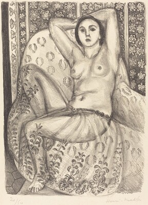 Seated Odalisque with Tulle Skirt (Odalisque assis à la jupe de tulle)