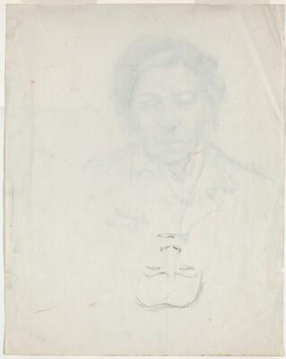 Partially Drawn Face [verso]