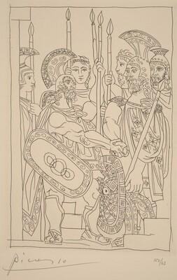 Negotiation between the Athenians and the Spartan Envoys (Accord entre les guerriers de Sparte d'Athenes)