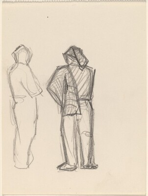 Two Standing Figures, Rear View
