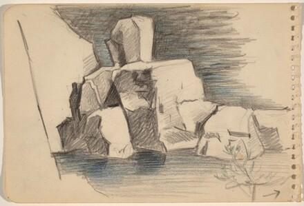 Rocky Cliff near Water [recto]