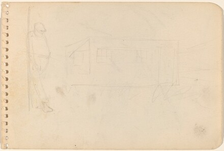 Figure and Building [verso]