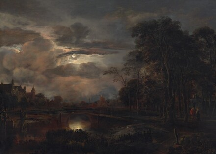 Moonlit Landscape with Bridge