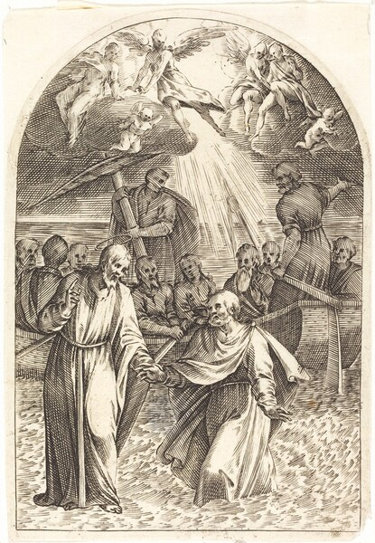 Christ Walking on the Water [second plate]