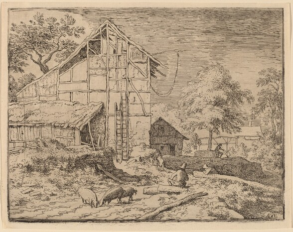 Cottage with Two Ladders