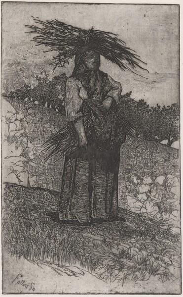 La Boscaiola: Peasant Woman Carrying Wood