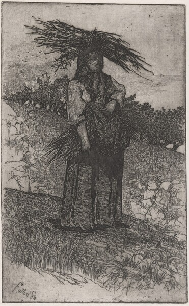 La Boscaiola: Peasant Woman Carrying Wood