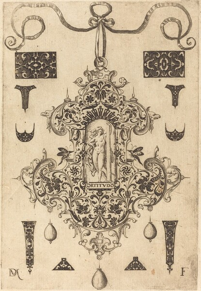 Large Pendant, Strength Standing at Centre