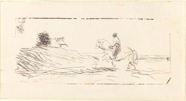 Carte-de-visite with Horseman (La Carte de visite au cavalier)